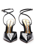 Load image into Gallery viewer, BLACK SLING BACK POINT TOE SANDALS