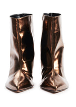 Load image into Gallery viewer, CHOCOLATE MIRROR EFFECT HIGH HEEL BOOTS