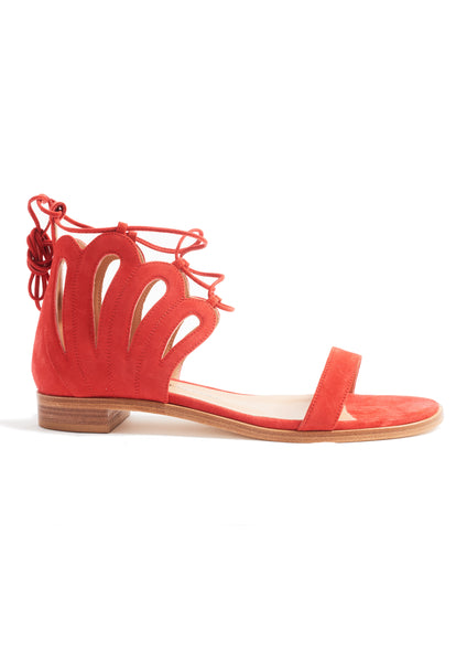 RED LILLY SANDAL