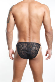Secret Male SMI008 Slip Bikini -Negro
