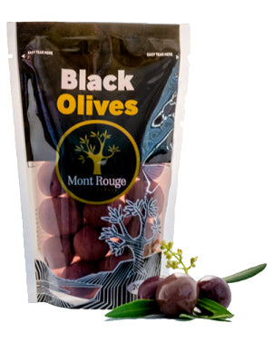 Mont Rouge Black Olives 200g