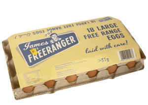 Free Range Eggs 18 Pack - James the Free Ranger