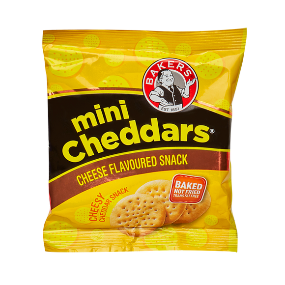 Bakers Cheese Mini Cheddars 33g