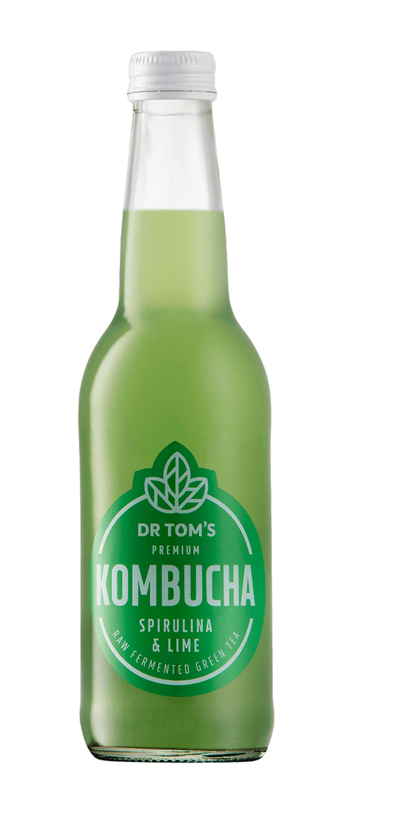Dr Tom's Kombucha Spirulina & Lime 340ml