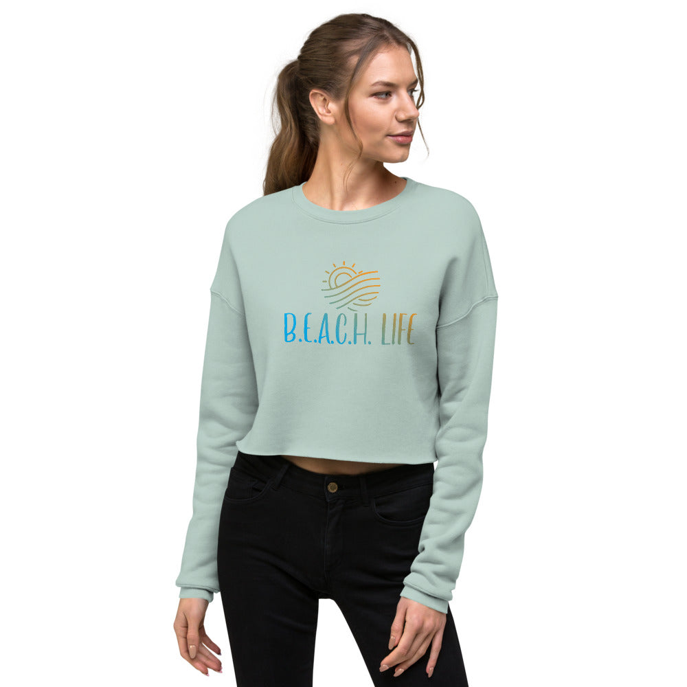 BEACH LIFE Crop Sweatshirt