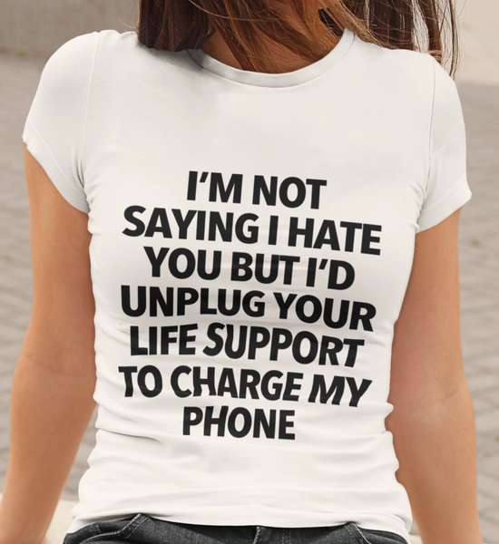 Unplug Your Life Support Triblend Women's T-Shirt