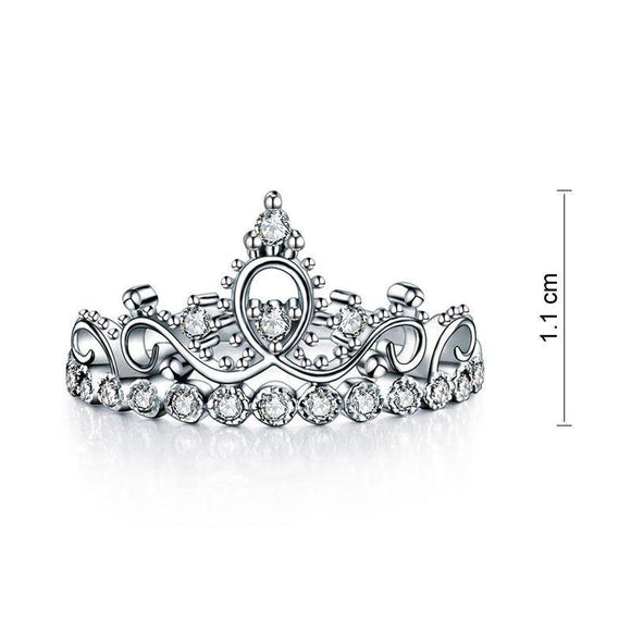 0.30ct Princess Crown, Diamond Eternity Ring, 925 Sterling Silver