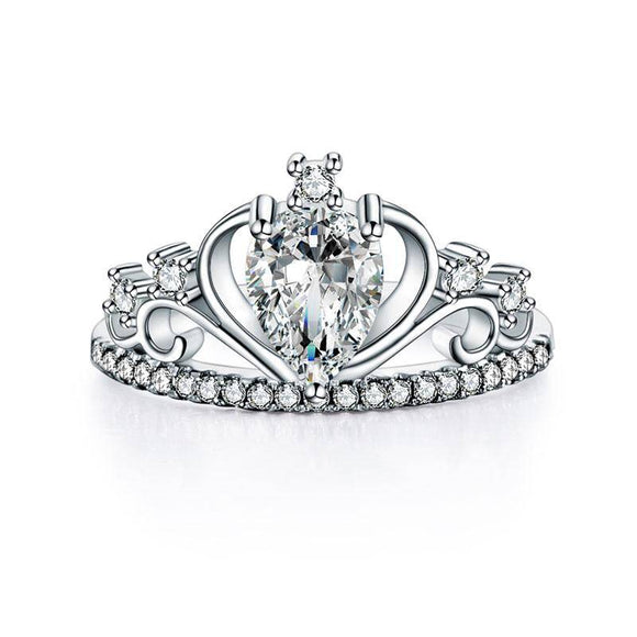 1.00ct Pear Cut Diamond, Princess Crown, Eternity Ring