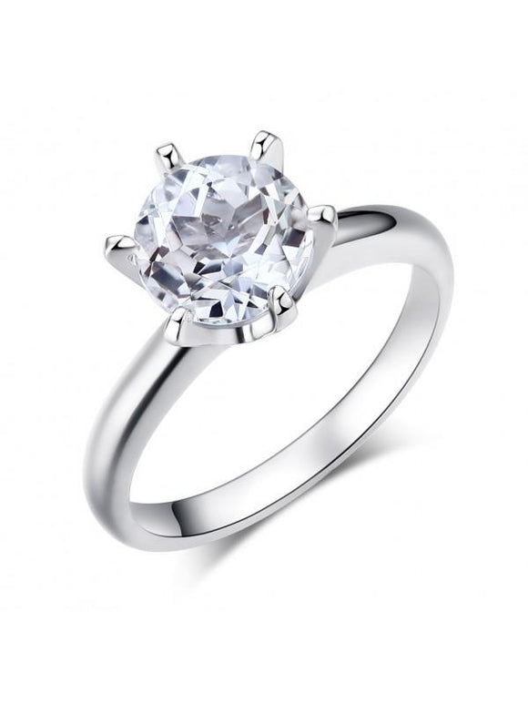 2.00ct White Topaz Enagagement Ring, Vintage Inspired, Available in 14kt or 18Kt White, Yellow or Rose Gold