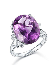 8.30ct Oval Cut Luxury Amethyst Dress Ring, Available in 14kt or 18kt White, Yellow or Rose Gold