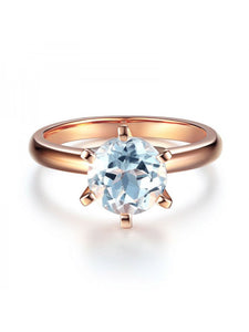 2.00ct Rose Gold, White Topaz Enagagement Ring, Available in 14kt or 18Kt White, Yellow or Rose Gold