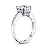 2.65ct Classic Brilliant Cut Diamond Engagement Ring, 925 Silver
