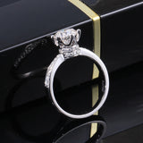 1.00ct Round Cut Moissanite, Classic Engagement Ring, Available in White Gold or Platinum