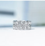 1.56ct White Gold Full Eternity Ring, Moissanite Wedding Band, Available in White Gold or Platinum