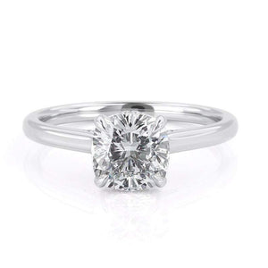 1.50ct Cushion Cut Moissanite, Classic Engagement Ring, Available in White Gold or Platinum