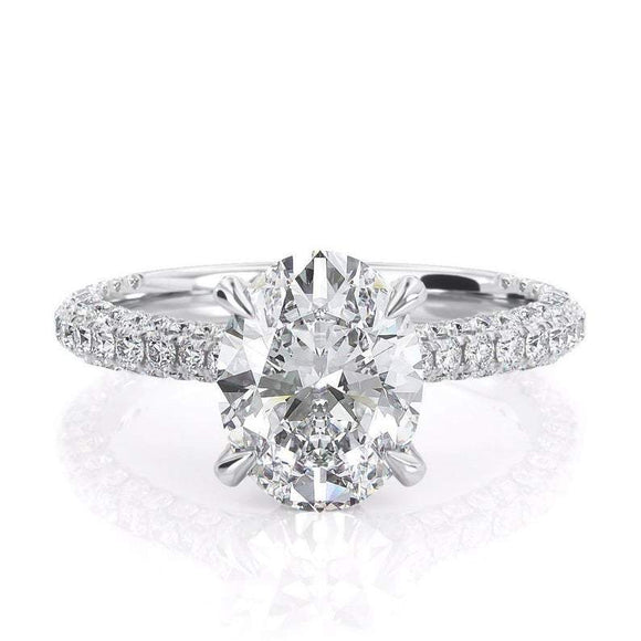 2.00ct Oval Cut Moissanite, Classic Engagement Ring, Available in White Gold or Platinum