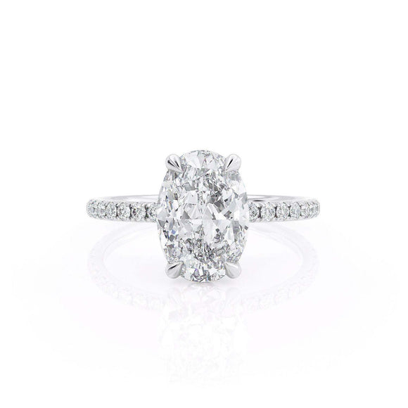 2.50ct Oval Cut Moissanite, Classic Engagement Ring, Available in White Gold or Platinum