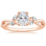 Lab-Diamond Oval Cut Engagement Ring, Classic Style, Choose Your Stone Size and Metal