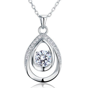 1.00ct Bridesmaid Pendant, Diamond Bridesmaid Necklace, 925 Silver