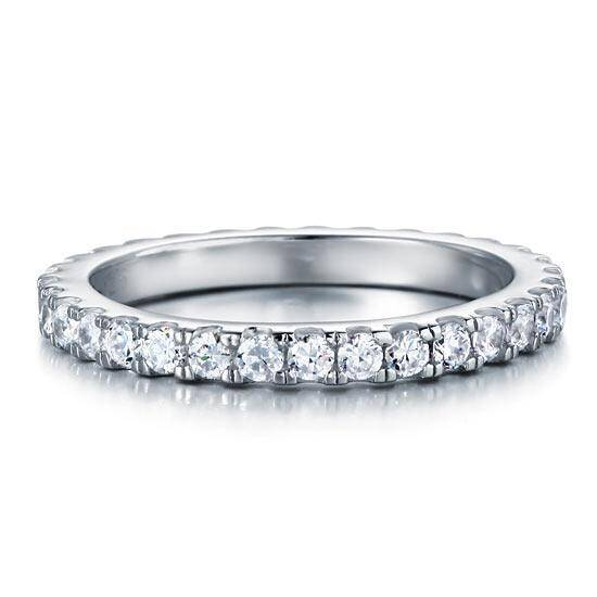 0.70ct Round Brilliant Cut Full Diamond Eternity Ring