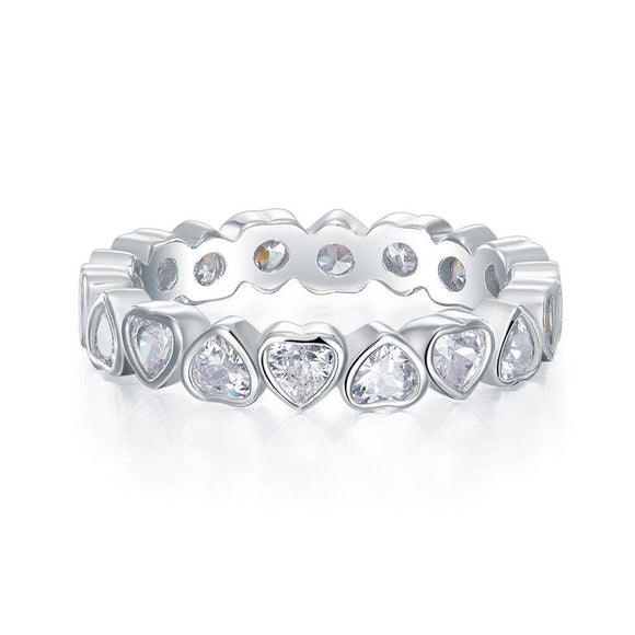1.00ct Heart Shaped Diamond, Full Eternity Ring