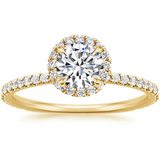 Lab-Diamond, Classic Round Cut Halo Engagement Ring, Choose Your Stone Size and Metal