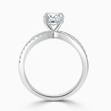 Round Cut Moissanite Engagement Ring, Classic Style, Choose Your Stone Size and Metal