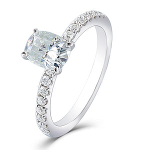 0.75ct Oval Cut Moissanite, Classic Engagement Ring, Available in White Gold or Platinum