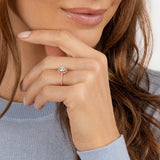 1.00ct Vintage Round Cut Moissanite Halo Engagement Ring, Available in White Gold, Platinum, Rose Gold or Yellow Gold