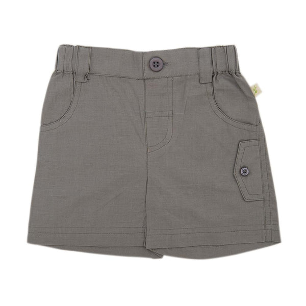 Organic Cotton Baby Cargo Shorts -  Soft Grey