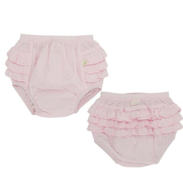 Organic Cotton Baby Frill Bloomer - Pink