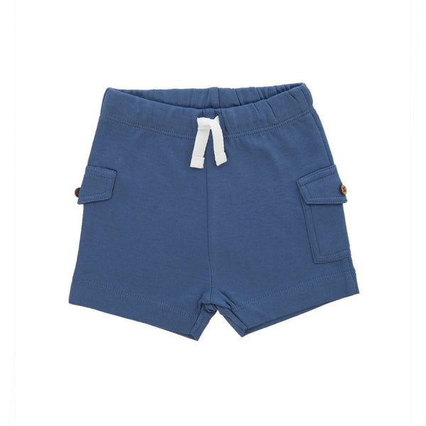 Organic Cotton Baby Shorts - Bijoue Blue