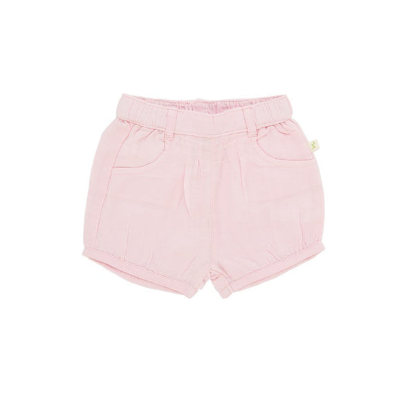 Organic Cotton Baby Woven Shorts - Pink