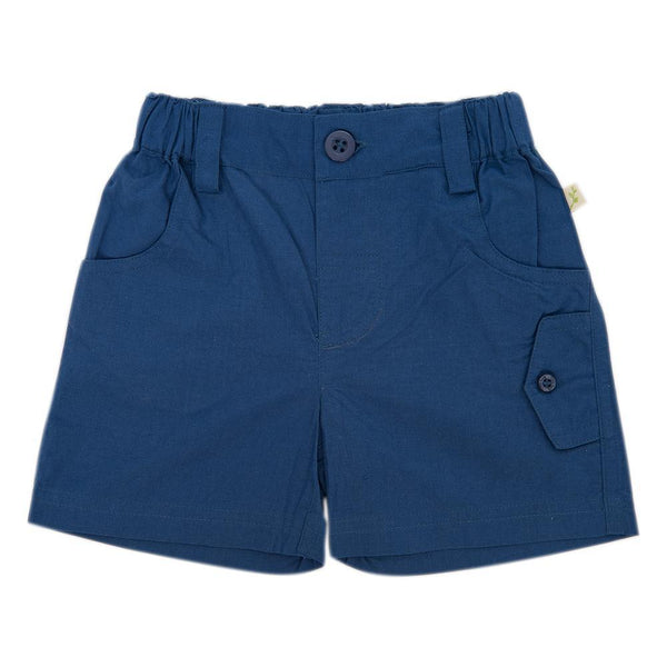 Organic Cotton Baby Cargo Shorts -  Bijoue Blue