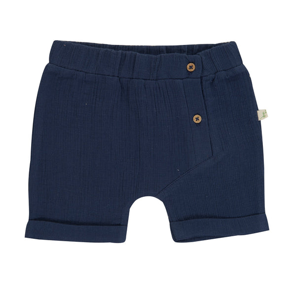 Organic Cotton Baby Woven Shorts - Crown Blue