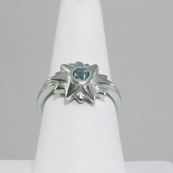 Starburst Ring with Blue topaz