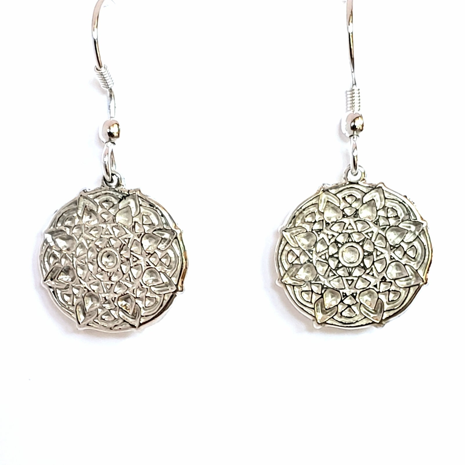Mandala dangle earrings 1""