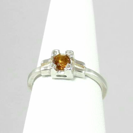 Embrace ring , stackable Citrine