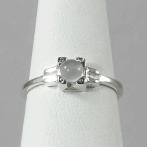 Embrace Ring, stackable moonstone