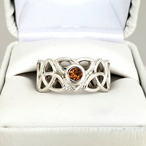 Celtic Knot Ring 5mm citrine
