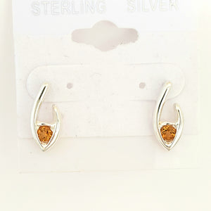 Flame of Life Stud Earrings - citrine