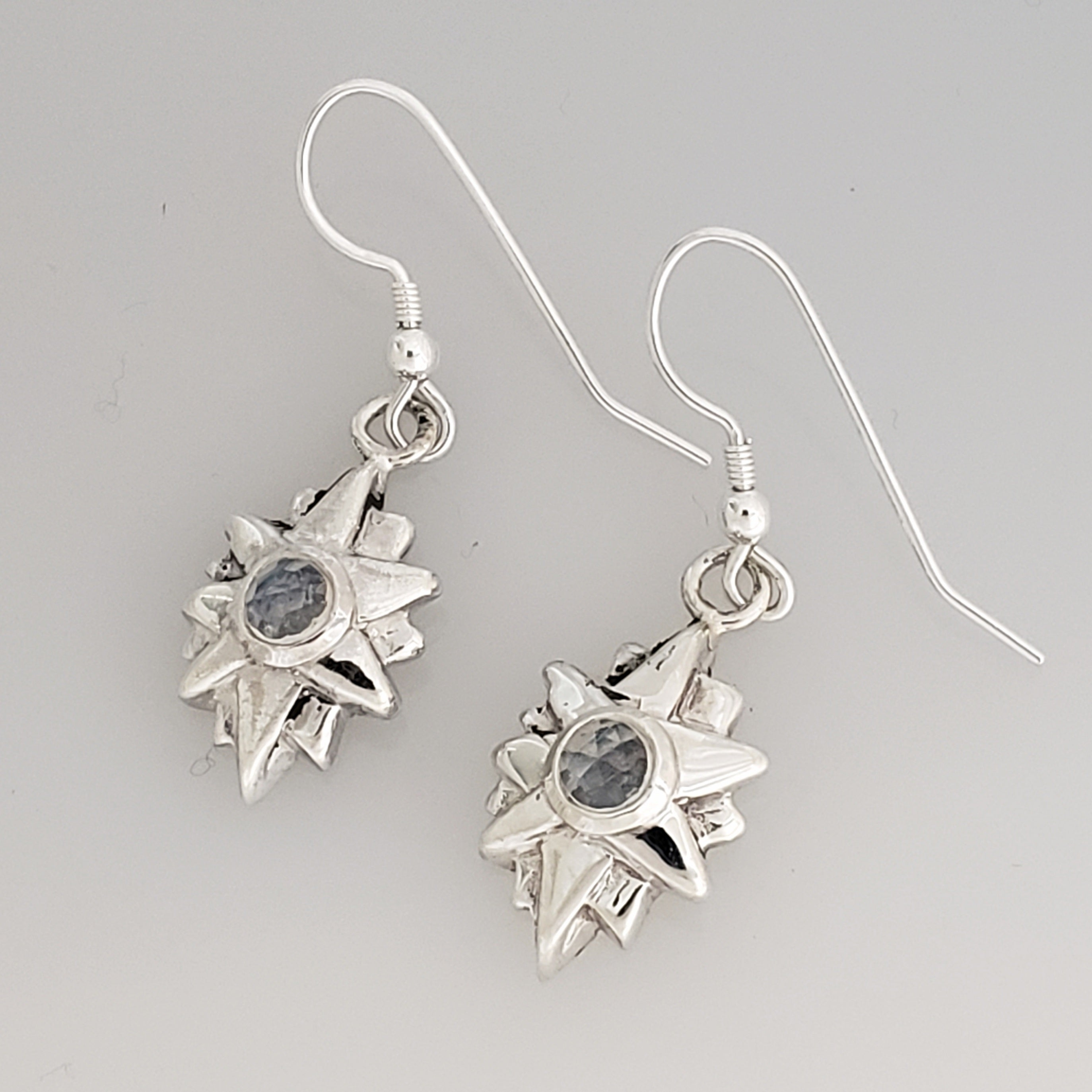 Starburst Dangle Earrings Moonstone