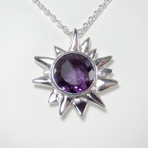 Starburst Pendant amethyst faceted