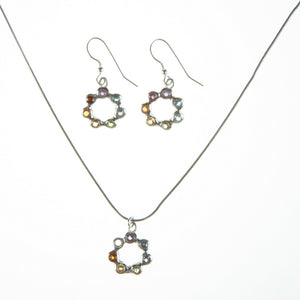 Circle of life dangle earrings