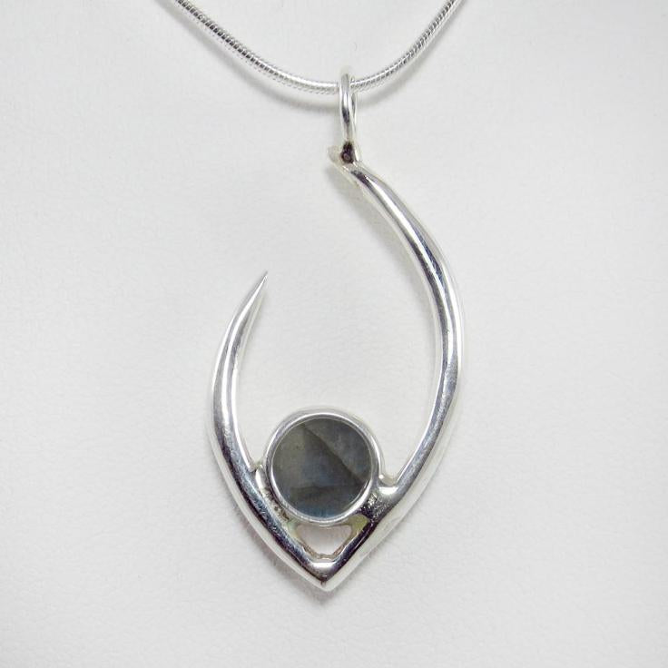 Flame of Life Pendant with Labradorite Stone