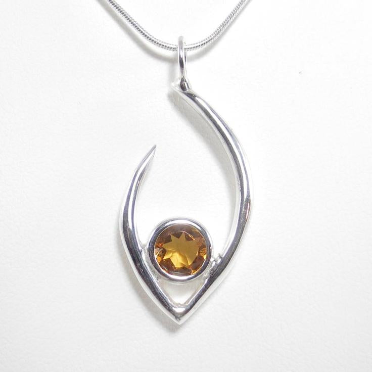 Flame of Life Pendant with Orange Citrine Stone