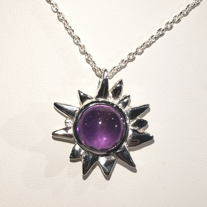 Starburst Pendant with Amethyst Cab