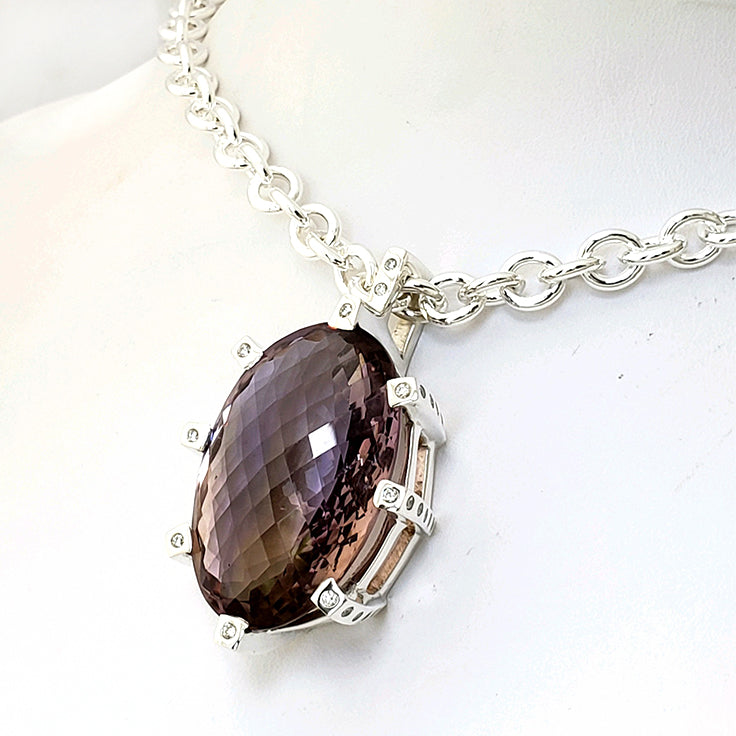 Treasures Ametrine 8 Prong Royal Pendant