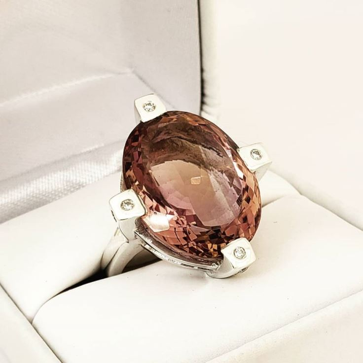 Jimeye Designs - Treasures Ametrine Royal 4 Prong Ring