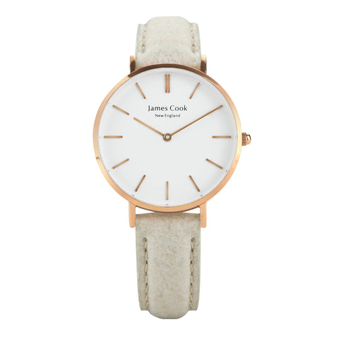 Heritage Piñatex Natural Feminino Rosé Gold 32mm